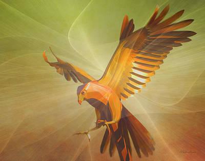 Digital Art - Metal Bird 2 Of 4 by Walter Herrit