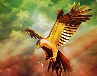 Digital Art - Metal Bird 3 Of 4 by Walter Herrit