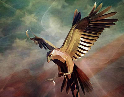 Digital Art - Metal Bird 4 Of 4 by Walter Herrit