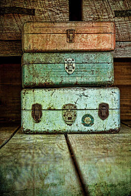 Wood Box Photograph - Metal Boxes by Tom Mc Nemar