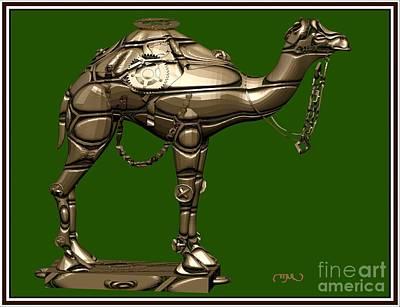 Camel Mixed Media - metal camel MC by Pemaro