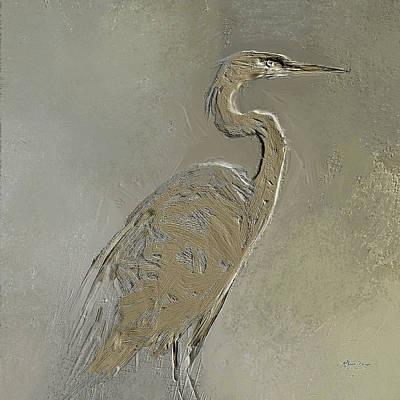 Metal Egret 3 Art Print