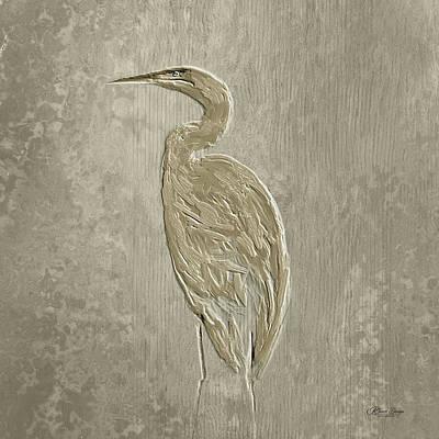 Metal Egret 4 Art Print