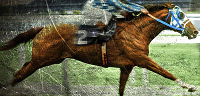 Pharoah Mixed Media - Metal Etching, Secretariat, Belmont Stakes by Thomas Pollart