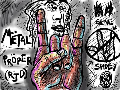 Digital Art - Metal Horns by Joe Bloch