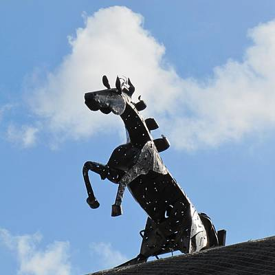 Photograph - Metal Horse Statue by Maciek Froncisz