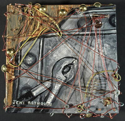 Rivets Mixed Media - Metal by Jeni Reynolds