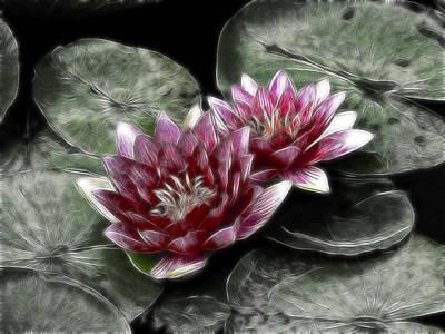 Glamor Photograph - Metal Lilies by Joachim G Pinkawa