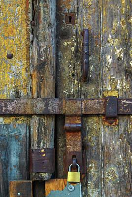Old Latch Photograph - Metal Locks by Carlos Caetano