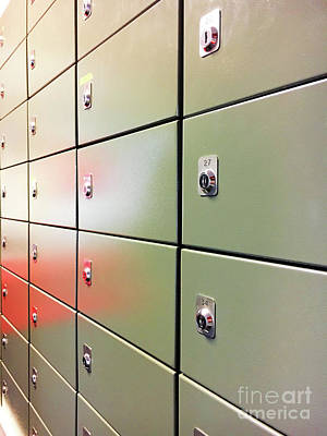 Mail Boxes Photograph - Metal Mail Lockers by Tom Gowanlock