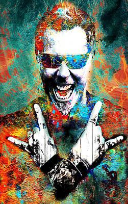 Lead Singer Digital Art - Metal Man by Greg Sharpe