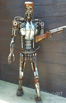 Photograph - Metal Man by Tony Baca