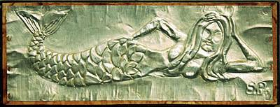Metal Mermaid Art Print