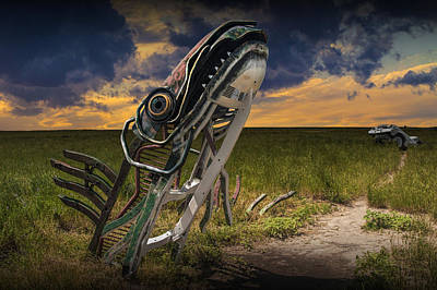 Photograph - Metal Monster Emerging From The Earth by Randall Nyhof