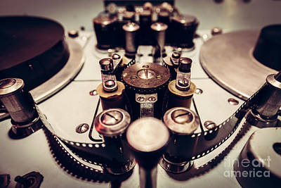 Motion Photograph - Metal Parts Of An Old Cinematographic Machinery. by Michal Bednarek