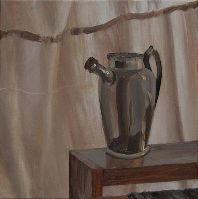 Painting - Metal Pitcher by Rebecca Giles
