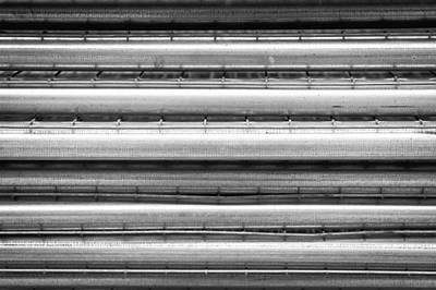 Metal Poles Art Print by Tom Gowanlock