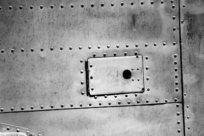 Photograph - Metal Rivets And A Hatch by Jackie Farnsworth