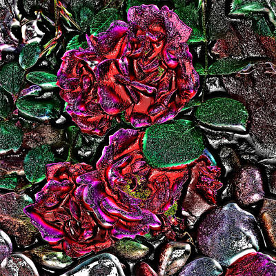 Photograph - Metal Roses by Susan Kinney