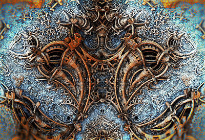 Digital Art - Metal Sculpture 2 by Hal Tenny