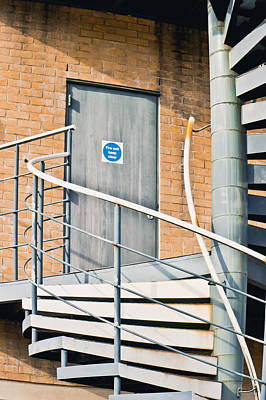 Old Home Place Photograph - Metal Staircase by Tom Gowanlock