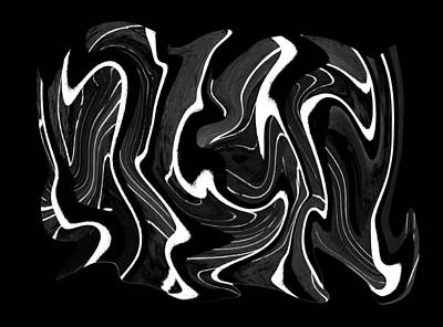 Digital Art - Metal Taffy Transparency by Robert Woodward