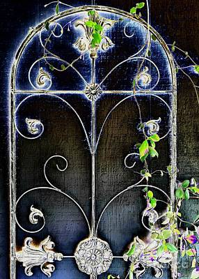 Photograph - Metal Trellis by Jenny Revitz Soper