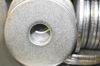 Photograph - Metal Washers - All That Glitters by Susan Vineyard