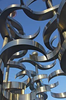 Photograph - Metal Wind Sculpture by Denise Mazzocco