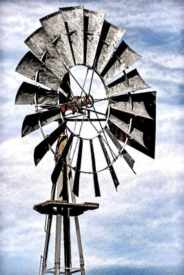 Photograph - Metal Windmill by Athena Mckinzie