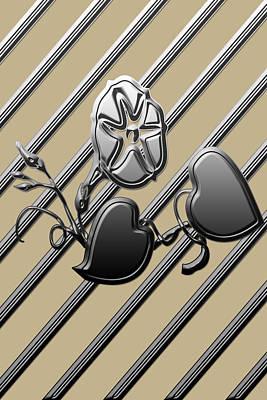 Metallics Digital Art - Metallic Hearts by Aimee L Maher Photography and Art Visit ALMGallerydotcom