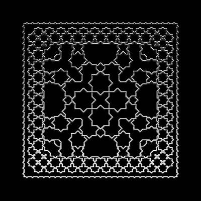 Digital Art - Metallic Lace Aiii by Robert Krawczyk