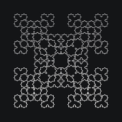 Digital Art - Metallic Lace Aviii by Robert Krawczyk
