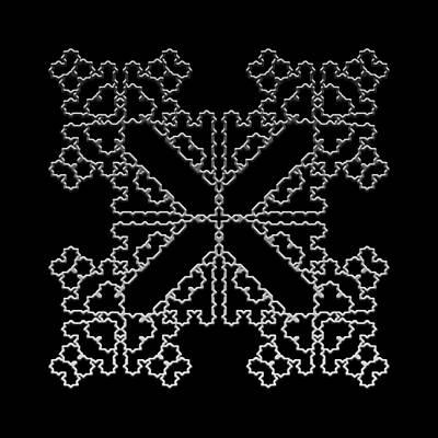 Digital Art - Metallic Lace Axi by Robert Krawczyk