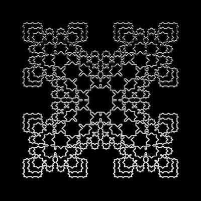 Digital Art - Metallic Lace Axiii by Robert Krawczyk