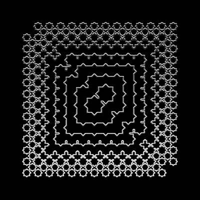 Digital Art - Metallic Lace Axl by Robert Krawczyk
