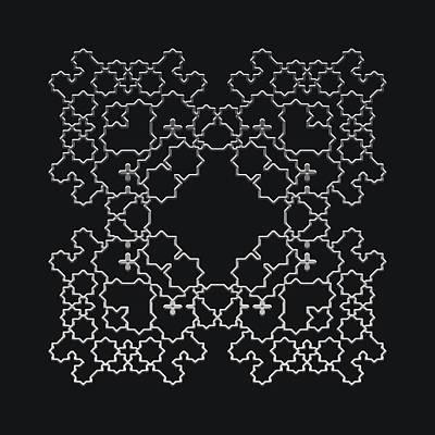 Digital Art - Metallic Lace Axvi by Robert Krawczyk