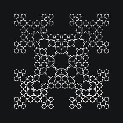 Digital Art - Metallic Lace Axvii by Robert Krawczyk