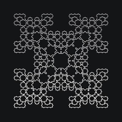 Digital Art - Metallic Lace Axx by Robert Krawczyk