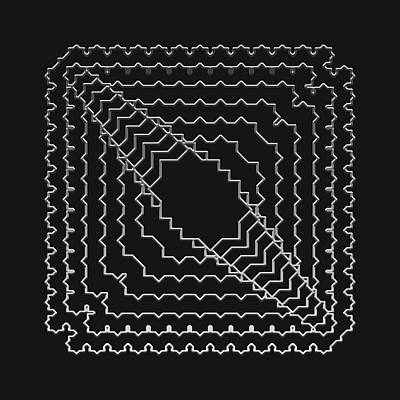 Digital Art - Metallic Lace Axxi by Robert Krawczyk