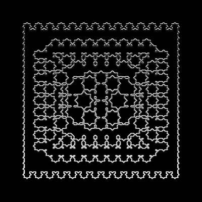Digital Art - Metallic Lace Axxii by Robert Krawczyk