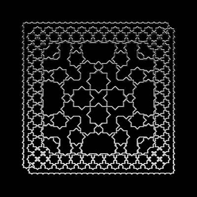 Digital Art - Metallic Lace Axxxi by Robert Krawczyk