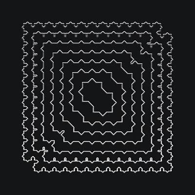 Digital Art - Metallic Lace Axxxvii by Robert Krawczyk