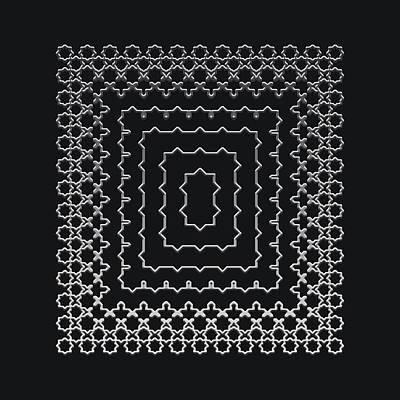 Digital Art - Metallic Lace Axxxviii by Robert Krawczyk