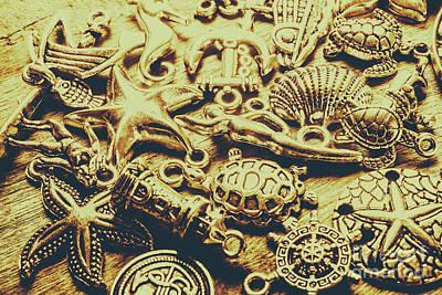 Metallic Marine Scene Art Print
