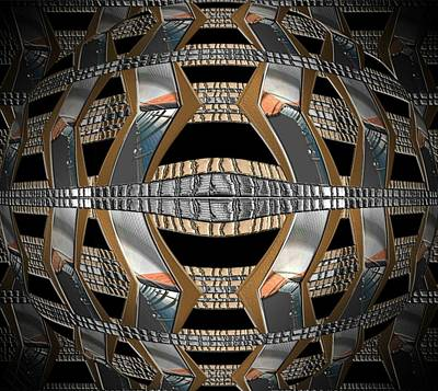 Digital Art - Metallic Sphere by Michael Hurwitz