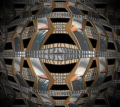 Digital Art - Metallic Sphere by Michael Hurwitz