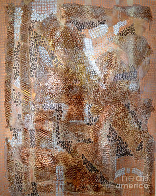 Mixed Media - Metallic Textures by Diane montana Jansson