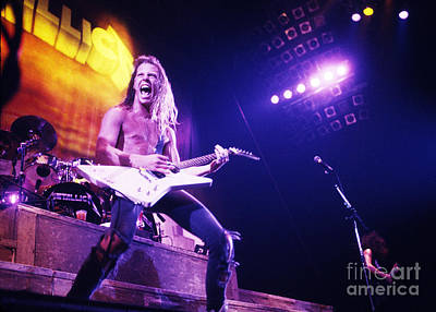 Metallica Photograph - Metallica 1986 James Hetfield by Chris Walter