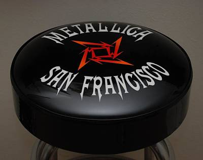 Metallica Bar Stool Art Print by Rob Hans